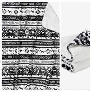 💥1 left 🚫 offers Vs pink Sherpa blanket